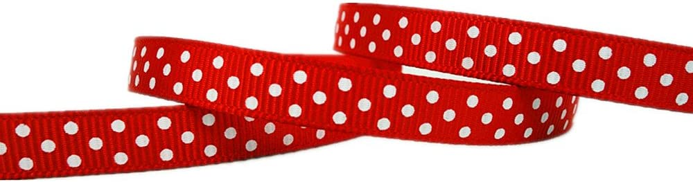 etc. 1 12 Swiss Dots Printed Grosgrain Ribbon Scrapbook Bows