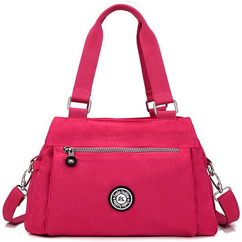 AmoonyFashion Women's Crossbody Bags Work ToteStyle Nylon Tote Bags, BUTBT181364