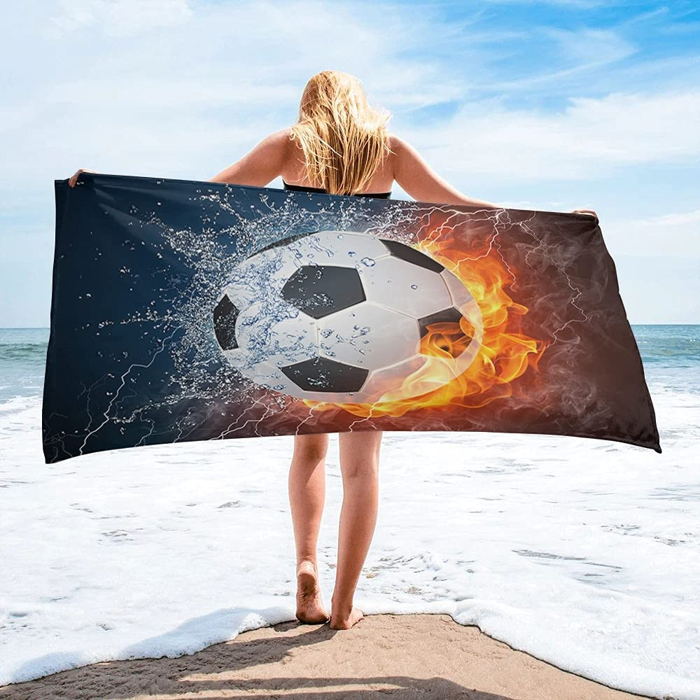 LINMING Soccer Sale price Football Game Bath Max 81% OFF Camping Bathroom Accesso Towel
