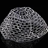 Fly Fishing Landing Net, Collapsible Clear Rubber Replacement Bag Bordin Ghost Style for Angler