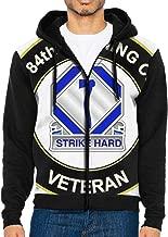 US Army 84th Training Command Unit Veteran Men's Sleeve Hoodie Zip Up Sportswear, Jackets