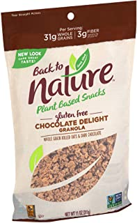 Back to Nature Gluten Free Granola, Non-GMO Chocolate Delight, 11 Ounce (Pack of 6)