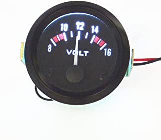 Queentres Auto Meter Voltage Gauge Motocycle Car Vehicle Volt Voltmeter 8-16V 2 52mm