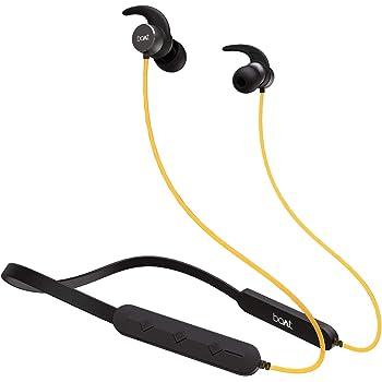 boAt Rockerz 255 Pro in-Ear Bluetooth Neckband Earphone with Mic(Blazing Yellow)