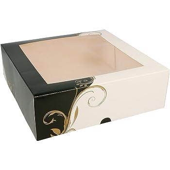 Lvcky 12 cajas de papel para tartas, cupcakes, caja de regalo, 8 pulgadas: Amazon.es: Belleza