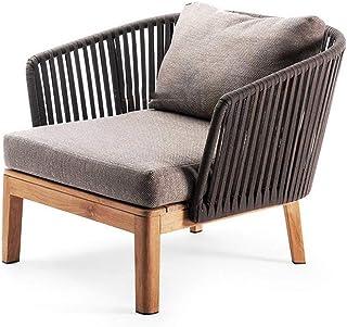 Hotel Villa Hof Terrasse Sofa Freizeit Möbel Nordic Outdoor-Seil gesponnenes Sofa