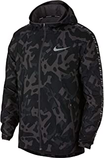 Men's Essential Running Jacket Black/Gunsmoke/Reflective SILV S