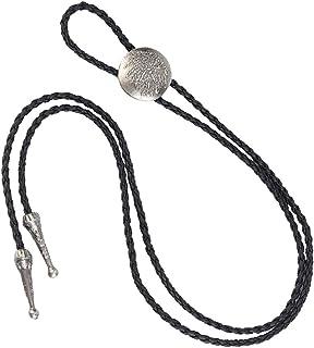 OTOTEC Western Bolo Mens Bolero Cravatta Cowboy Fascette 2/Tipi Black Stone
