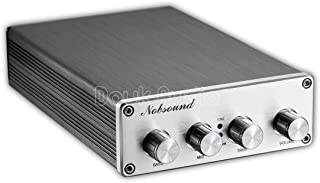 Nobsound Hi-Fi Stereo Digital Preamplifier Audio Pre-Amp with Treble/Middle/Bass Tone Control & Bypass; RCA; 2.0 channel; Universal Voltage