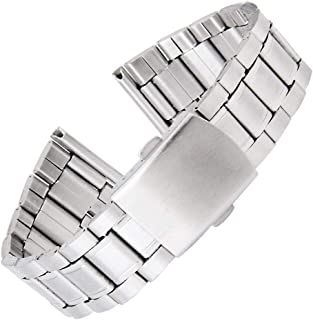 Flyme Silver Stainless Steel Watch Band Wristwatch Bracelet Band 18 – 22 mm – Pack of 1