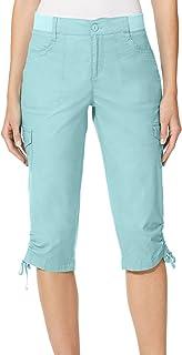 Gloria Vanderbilt Ladies Knit Waist Capri (Blue, Size 10)