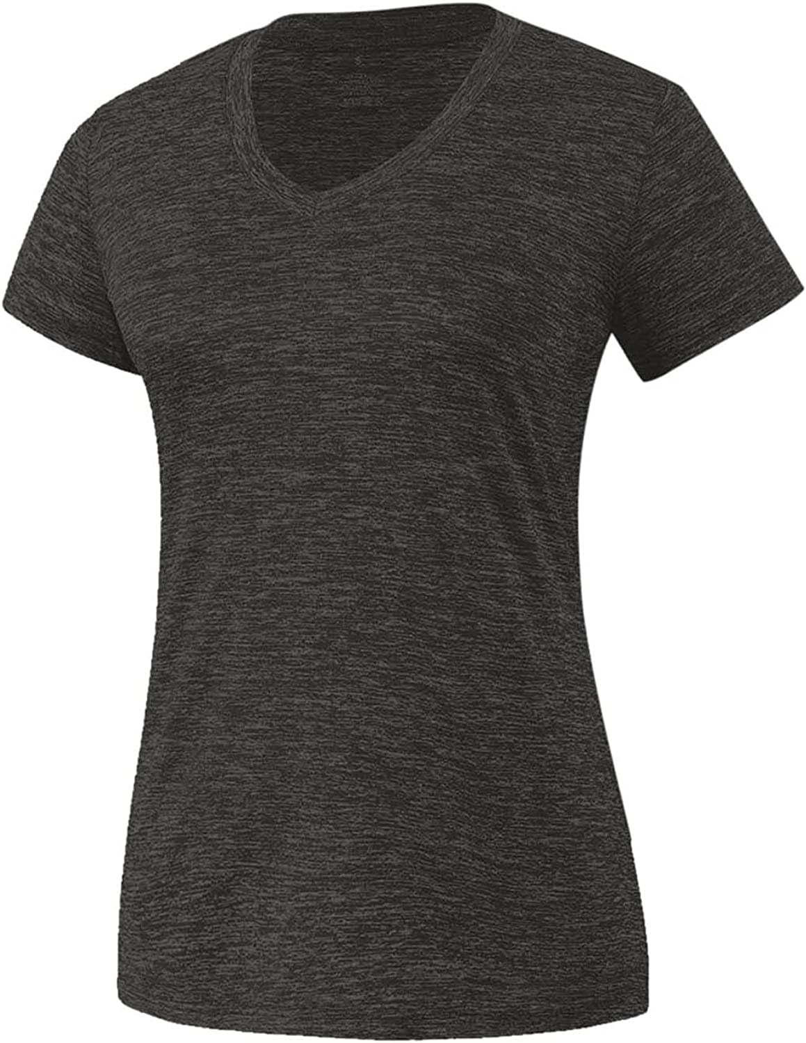 Workout Tops for Women Yoga Gym Shirts V Neck Solid Tee Athletic Short Sleeve Shirts Run Fitness Sportswear