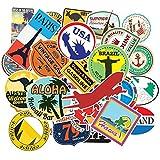 BLOUR 100 unids/Set Mapa de Viaje país Famoso Logo PVC Pegatinas Impermeables Juguetes para niños decoración Maleta Bicicleta Coche Guitarra monopatín F5