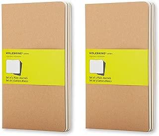 Moleskine Cahier Journal (Set of 3), Large, Plain, Kraft, Soft Cover (5