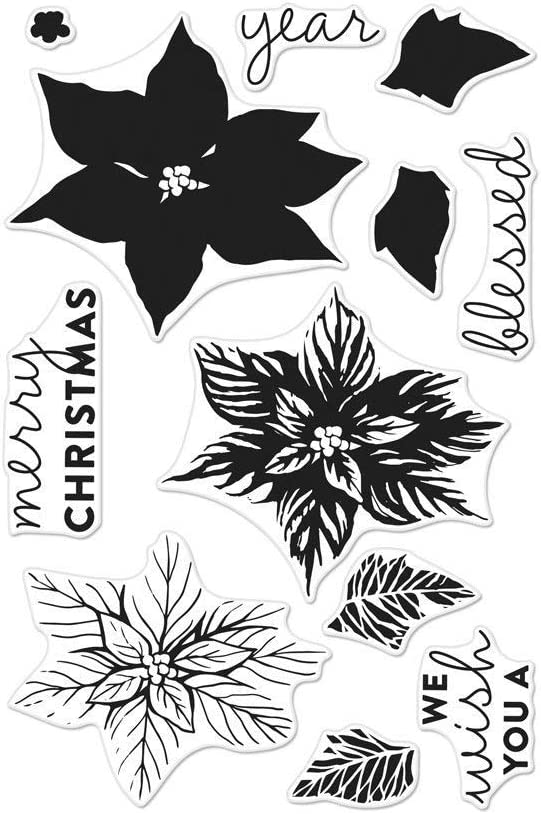 Hero Arts CM280 Clear Stamps, Color Layering Poinsettia