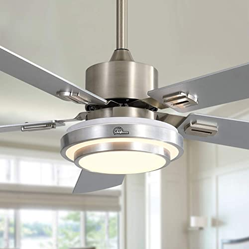 discount Sofucor outlet sale 52 online Inch Ceiling Fan with Light and Remote - Reversible, Dimmable, Speed Adjustable - Modern Style, ETL Listed outlet sale