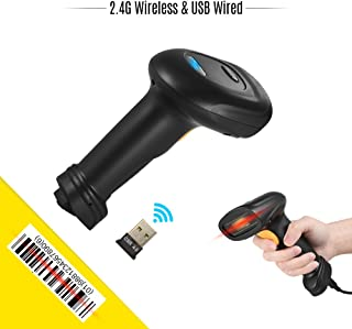Wireless Barcode Scanner,Benkeg BW3 Wireless & USB Wired 1D Barcode Scanner Handheld Bar Code Reader 30m/98ft Range with 3...