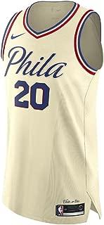Nike Markelle Fultz Philadelphia 76ers Authentic Cream City Edition Jersey - Men's 2XL (XXL)