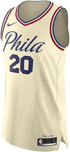 Nike Markelle Fultz Philadelphia 76ers Authentique Crème City Edition Jersey pour Homme 2x L (XXL)