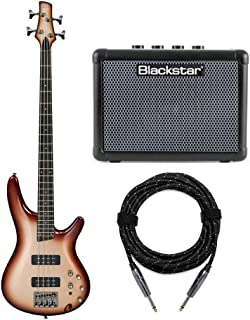 Ibanez SR300E 4-String Electric Bass Guitar Bundled with FLY 3 Bass Amp and Knox Cable (3 Items)