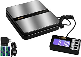 Acteck 150LB x 0.1 OZ Extended Display Digital Shipping Postal Scale with AC Adapter, Black