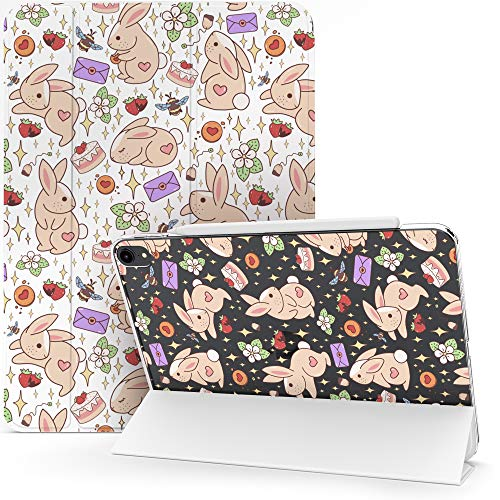 Lex Altern Case for Apple iPad Pro 12.9 2020 11 Air 3 2 10.2 8th Gen 2019 2018 10.5 inch Mini 5 4 9.7 Bees Bunny Cute Strawberry Clear Kawaii Magnetic Flowers Flip Stars Protective Smart Cover mch046