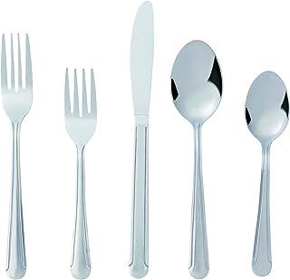 مجموعه کارد و چنگال ظروف ساخته شده از جنس استیل ضد زنگ Bon Camisole 20 قطعه ، شامل چاقو / چنگال / قاشق ، ماشین ظرفشویی ایمن ، سرویس برای 4