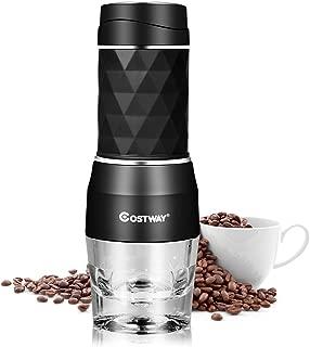 COSTWAY Máquina de Café Manual Espresso Portátil 2 en 1