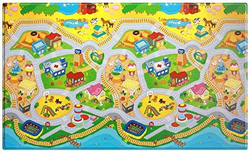 esterilla de juegos para niños - Dwinguler playmat - My Town - Large - 2,3m * 1,4m * 15mm