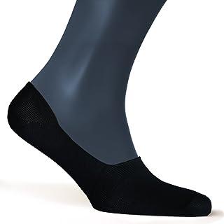 Calcetines invisibles hombre (Pack de 5) - Antideslizante & Algodón suave - Tiras de silicona - Calcetines cortos blancos y negros