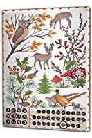 カレンダー Perpetual Calendar Fun Lindner autumn Animals Tin Metal Magnetic