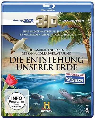Die Entstehung unserer Erde: Die San Andreas Verwerfung & Der Marianengraben (History) [3D Blu-ray + 2D Version]