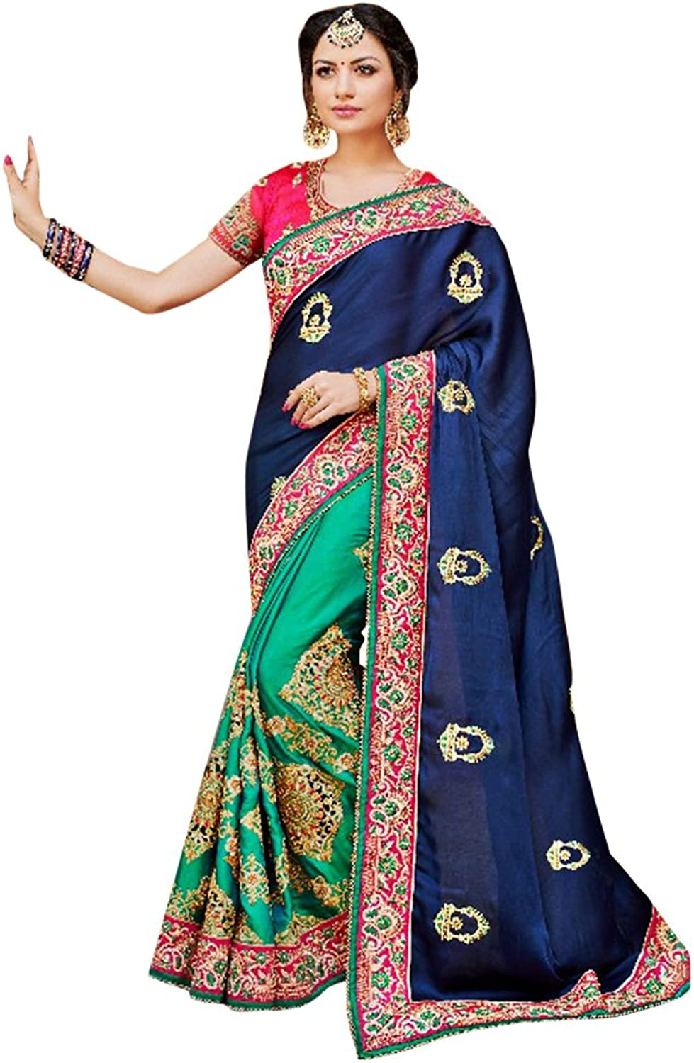 Bridal Ethnic Bollywood Collection Saree Sari Ceremony Bridal Wedding 760 2