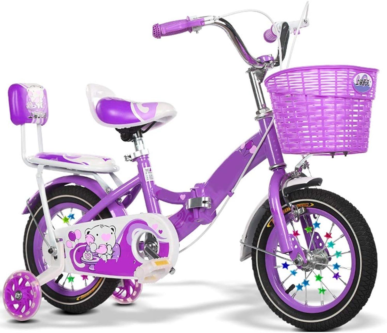YUMEIGE Kinderfahrrder Kinderfahrrder Kinderfahrrad12   14 16 18 Zoll Jungen und Mdchen Radfahren, Geeignet für Kinder 2-9 Jahre alt Blau lila rot Verfügbar