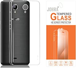 Johra Transparent Soft Back Case Cover With Tempered Screen Guard Protector For Xolo One HD
