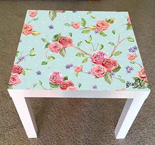 the grafix studio Shabby Chic flores vinilo adhesivo adecuado para Ikea carecer mesa/mesa de centro lk20