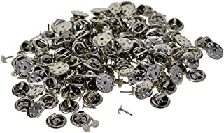 Baoblaze 100 Sets Butterfly Clutch Pin Backs Tie Tacks Replacement,Silver Pin Backs For Lapel Pins Fastener Clasps