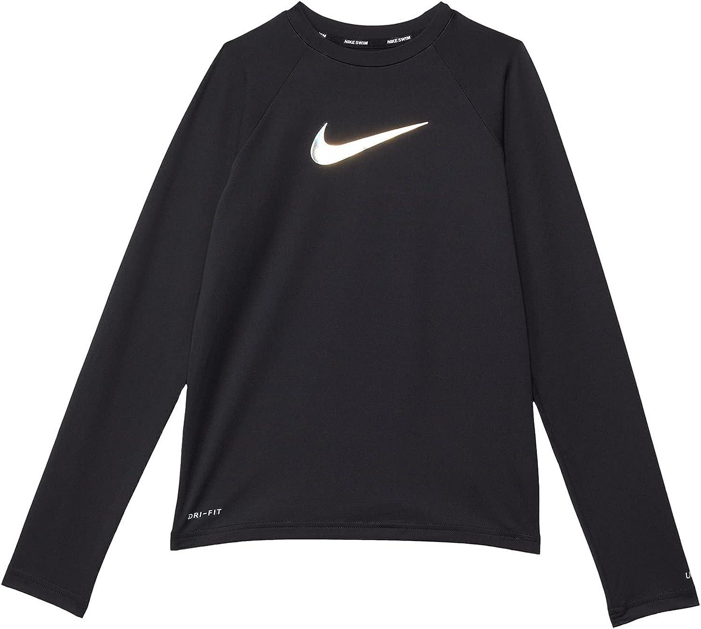 Nike girls Swoosh Long Sleeve Hydroguard (Little Kids/Big Kids)