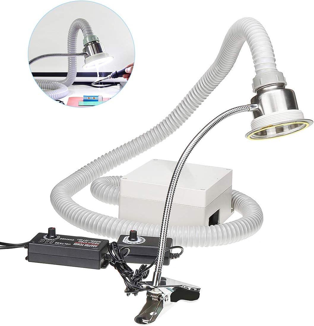 MaquiGra Extractor de Humos para Soldadura de Humos AntiestáticosAjustable para Trabajos de estación de Soldadura ESD de artesanía electrónica