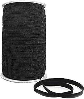 Elastic String for Masks 160-Yards Elastic Bands for Sewing 1/8 inch Elastic for Sewing Elastic Cord for Face Masks/Elastic Band/Elastic Thread/Flat Elastic/Elastic Bandage/Elastic Rope(Black)
