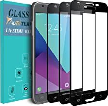 [3-Pack] TAURI for Samsung Galaxy J7 Prime / J7 V/Galaxy Halo / J7 2017 [Full Cover][Tempered Glass] Screen Protector with Lifetime Replacement Warranty - Black