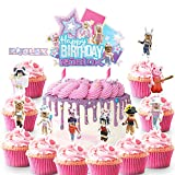 21 Cake Decorations for Roblox Cake Topper Cupcake Toppers Birthday Party Supplies Favor for Girl...