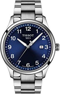 Tissot Men's Gent XL Swiss Quartz Stainless Steel Strap, Grey, 22 Casual Watch (Model: T1164101104700)