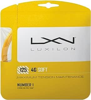Wilson LUXILON 4G Soft 125 Tennis String, Gold, 16L-Gauge