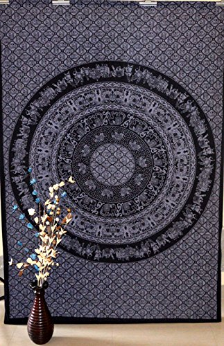 Marusthali Mandala Tapestry Twin Wall Hanging Gypsy Bohemian Décor Art Hippie Bedspread