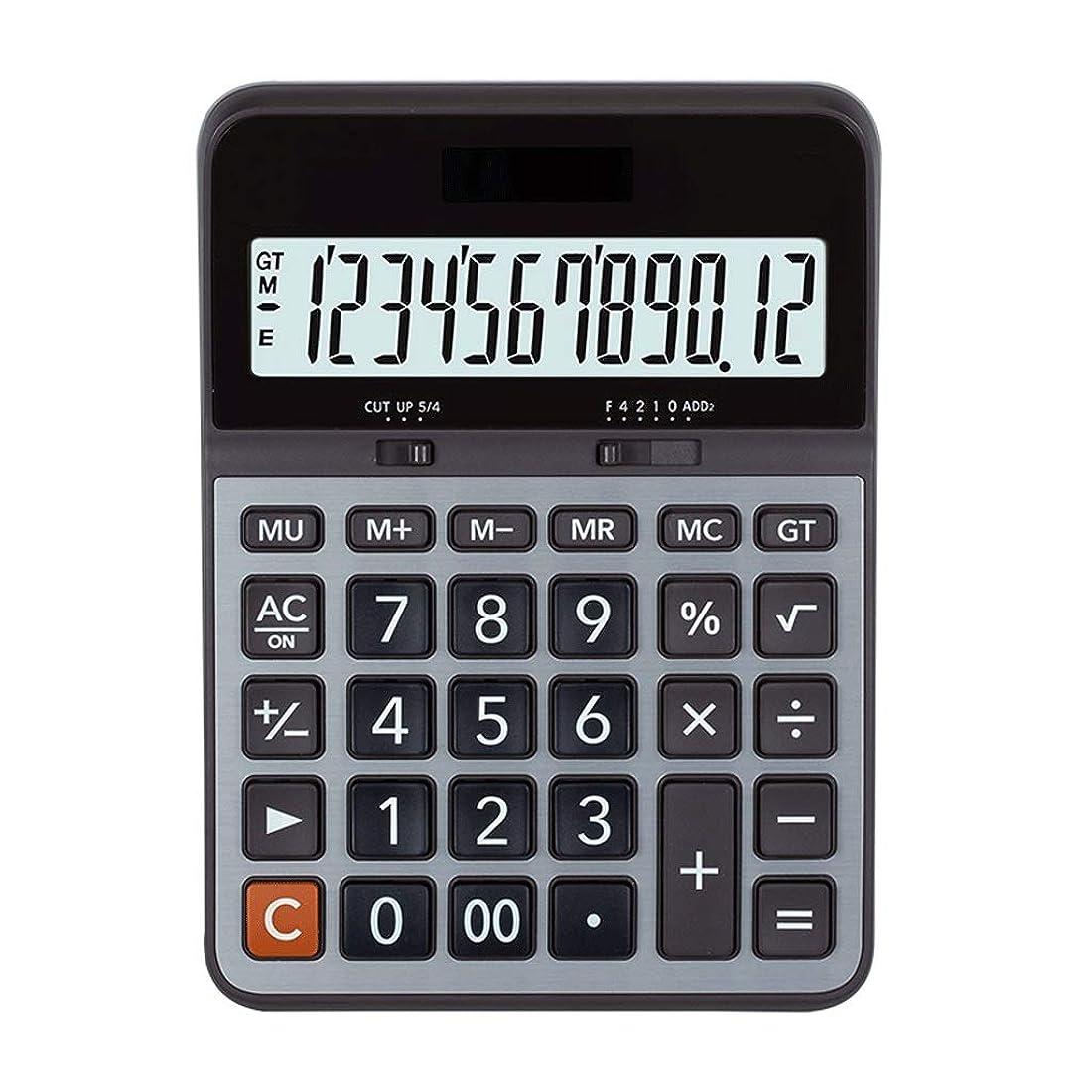 無知洞察力のある経済デスクトップ電卓営業所専用ポータブル大ボタン大画面ディスプレイ12桁電卓