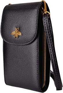 محفظة صغيرة كروسبودي للهاتف المحمول حقيبة جلدية للهاتف محفظة نسائية مع حزام قابل للتعديل