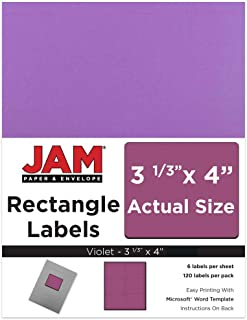 JAM PAPER Shipping Address Labels - Large - 3 1/3 x 4 - Violet Purple - 120/Pack