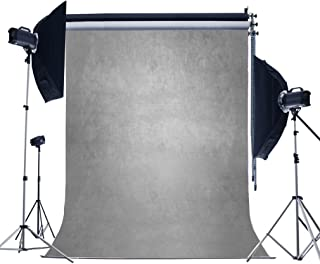 Laeacco 3x5ft Vinyl Baby and Kids Photography Background 1X1.5m Gray Pure Color Whimscal Abstract Artistic Personal Portraits Backdrop Photo Studio Props