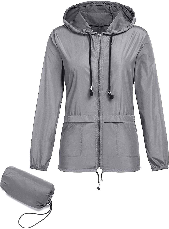 Bemobeauty Rain Jacket Women Austin Mall Waterproof Pa Hood Milwaukee Mall Windbreaker with